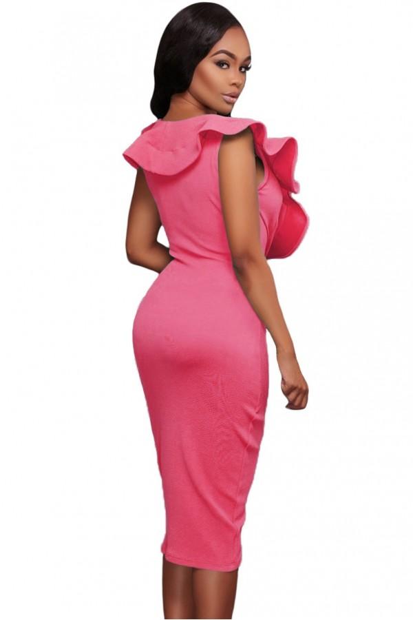 Rochie Pink Ruffle