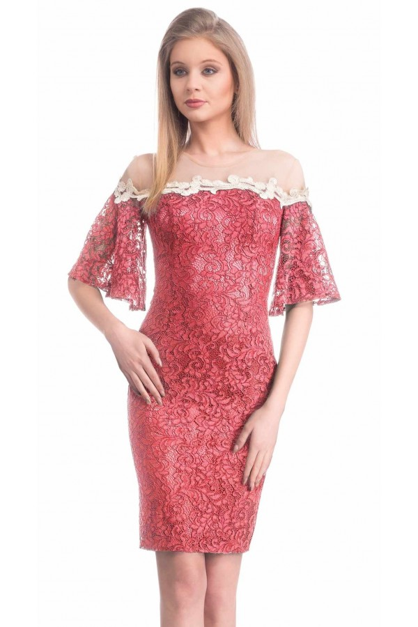 Rochie Coral Sleeves