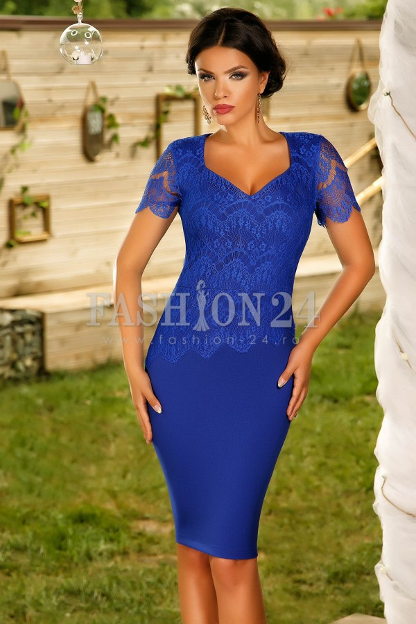Rochie Cu Dantela Blue Lace