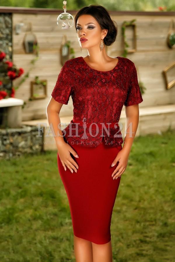 Rochie Edythe Burgundy