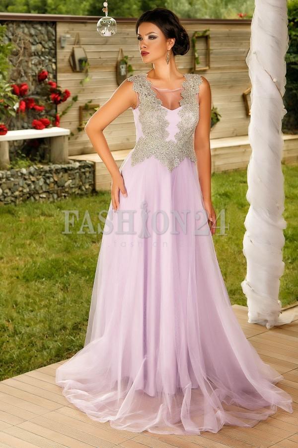 Rochie Lunga Purple Harmony