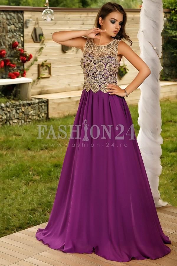 Rochie Lunga Purple Selective