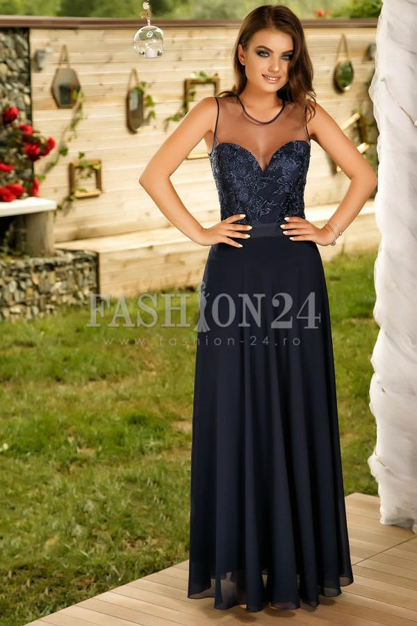 Rochie Lunga Navy Party