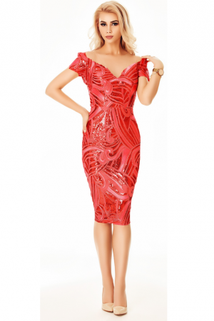 Rochie Noemy Red