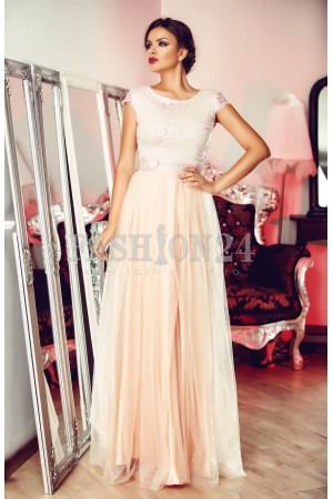 Rochie Pink Embroidered