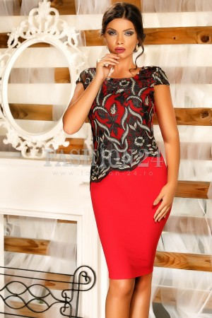 Rochie Lesley Red