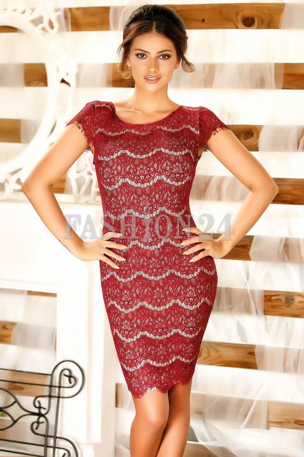 Rochie Michelle Bordo New
