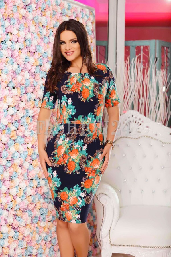 Rochie XXL Orange Leaves