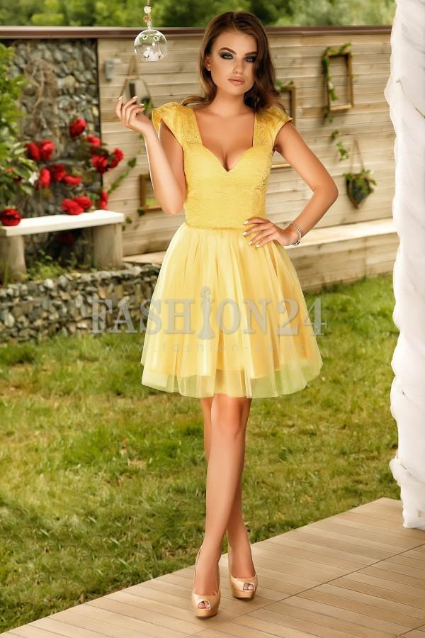 Rochie Yellow Fantasy
