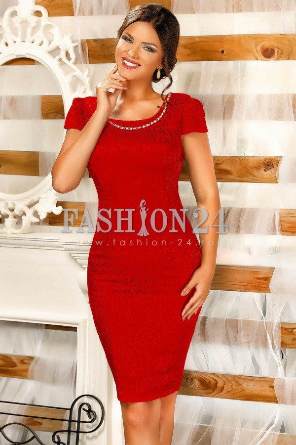 Rochie Lindsay Red