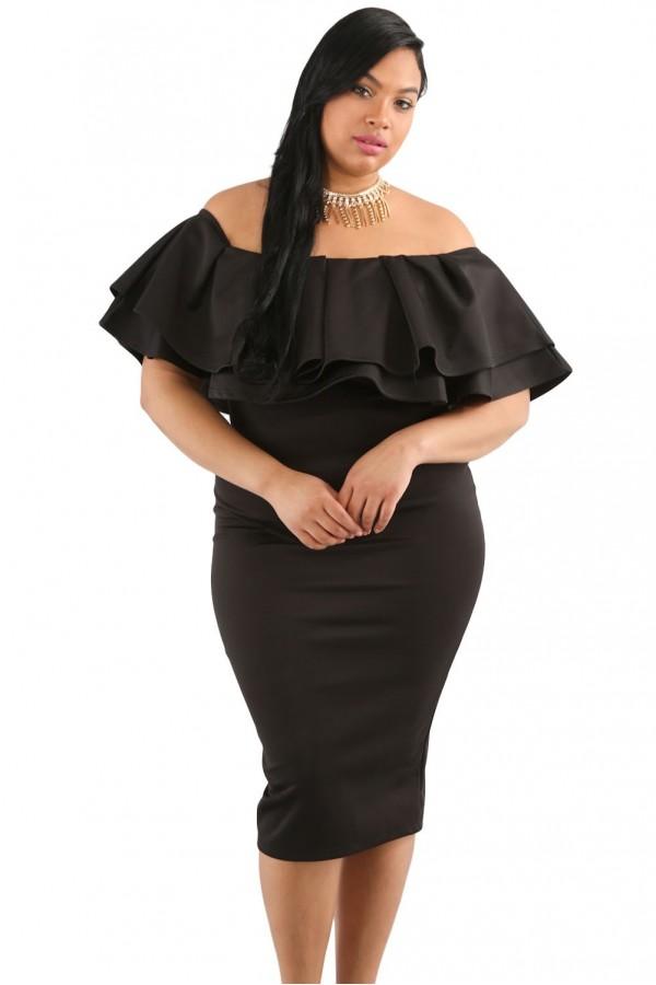 Rochie  Black Layered