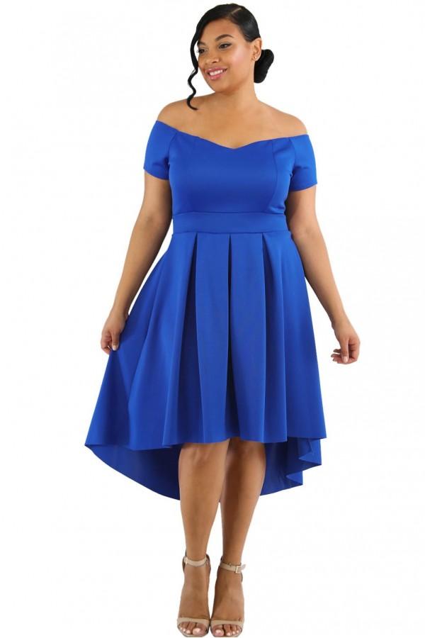Rochie XXL Swing Blue