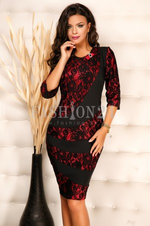 Rochie Cate Red