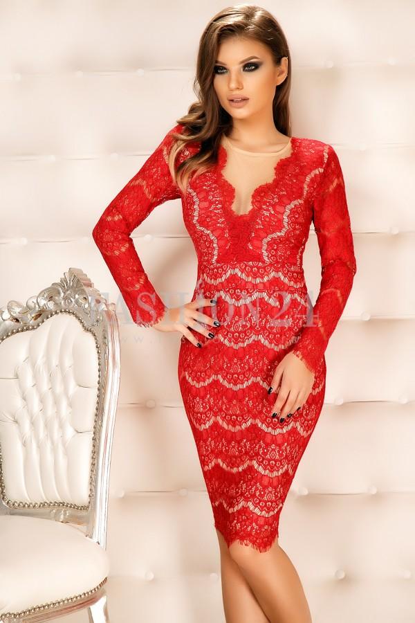 Rochie Lisandra Red
