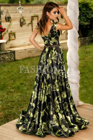Rochie Lunga Special Night Green