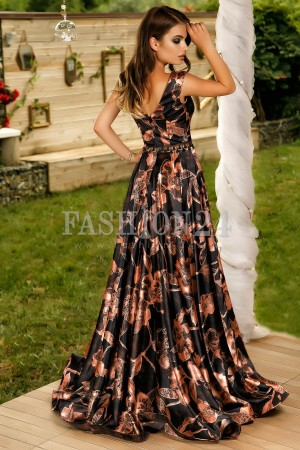 Rochie Lunga Special Night Brown