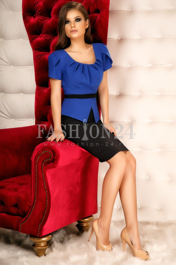 Rochie Alma Blue&Black