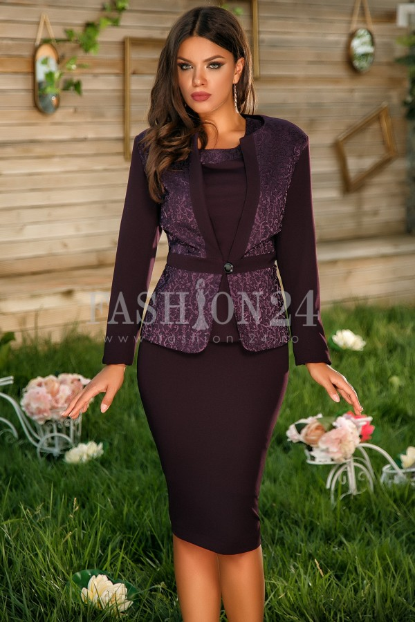 Magazin Online Haine - Compleu Elegant Annis Purple -Fashion-4u.Eu