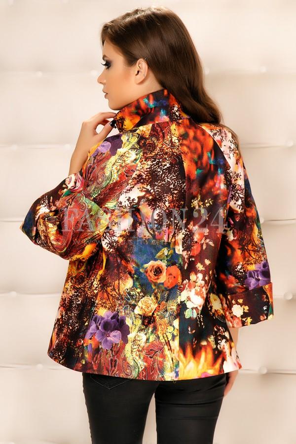 Palton Cu Imprimeuri Maia