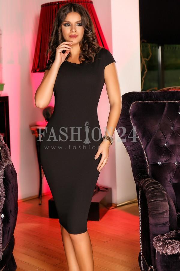 Rochie Asymmetric Cardigan Black