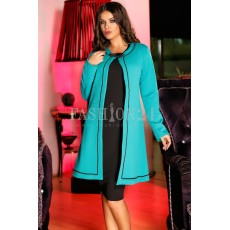 Rochie Famous Cardigan Turquoise thumbnail