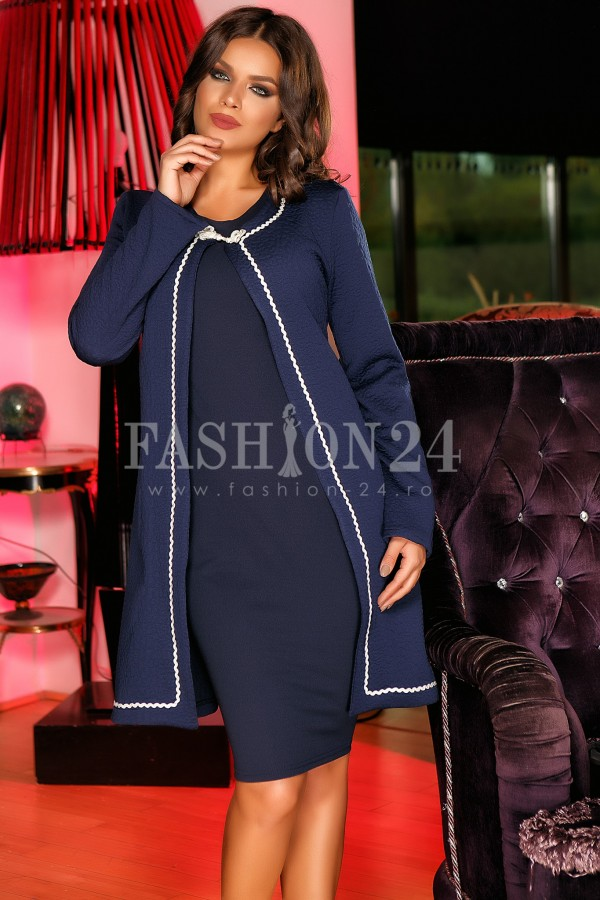 Rochie Famous Cardigan Navy