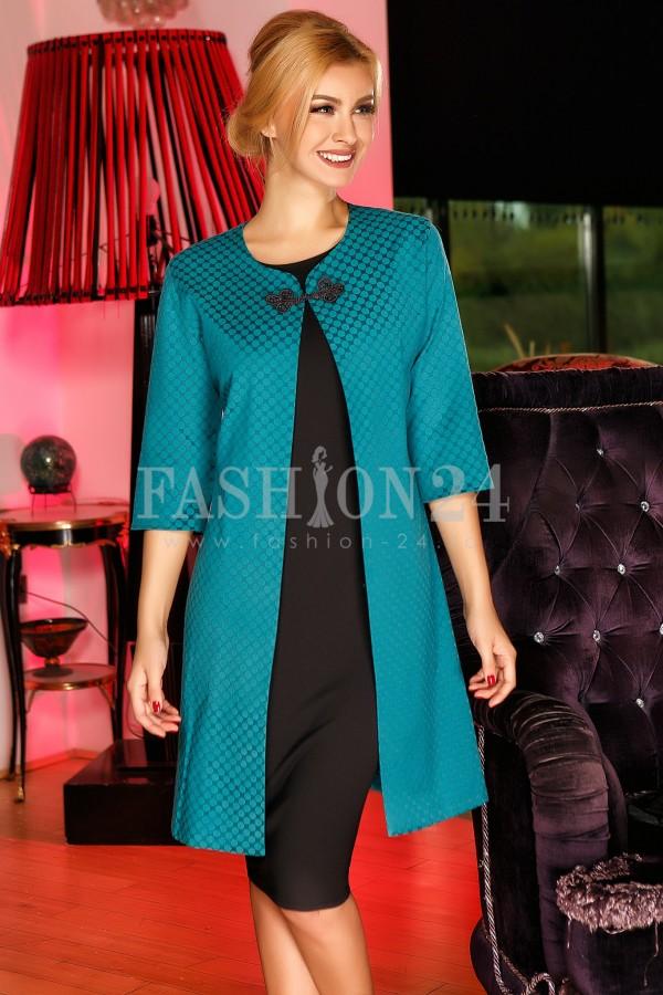 Rochie Black&Turquoise Cardigan