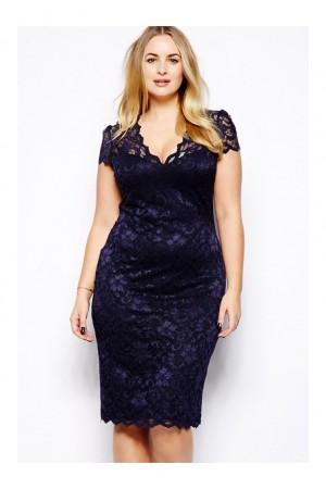 Rochie XXL Blue Lace