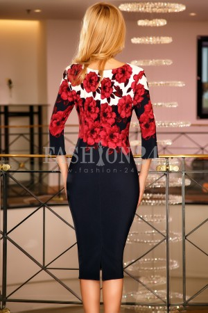Rochie Ayra Red Roses