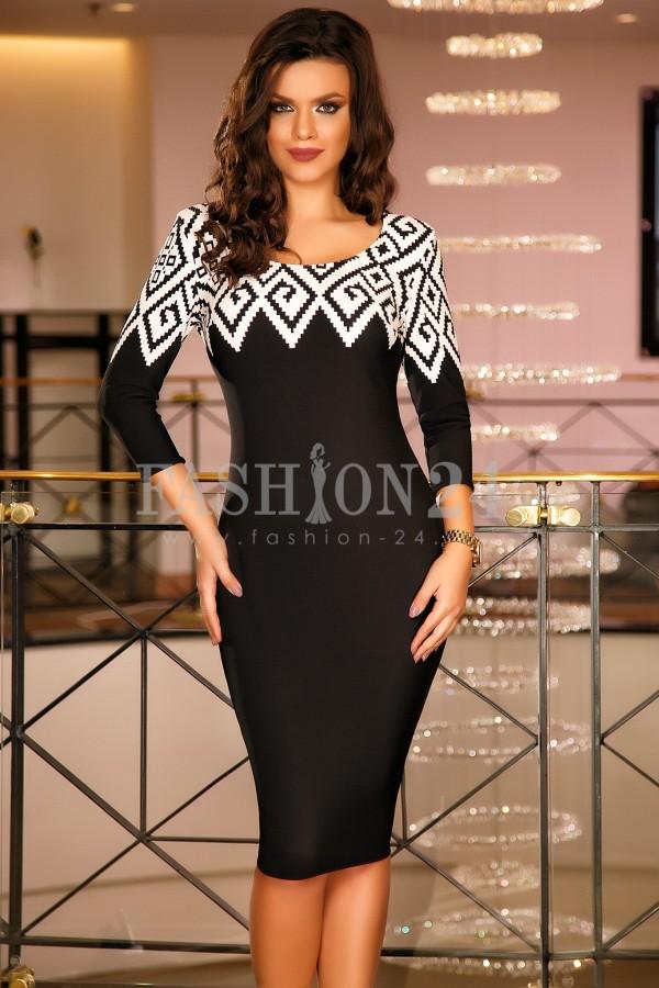 Rochie Timeea Black&White