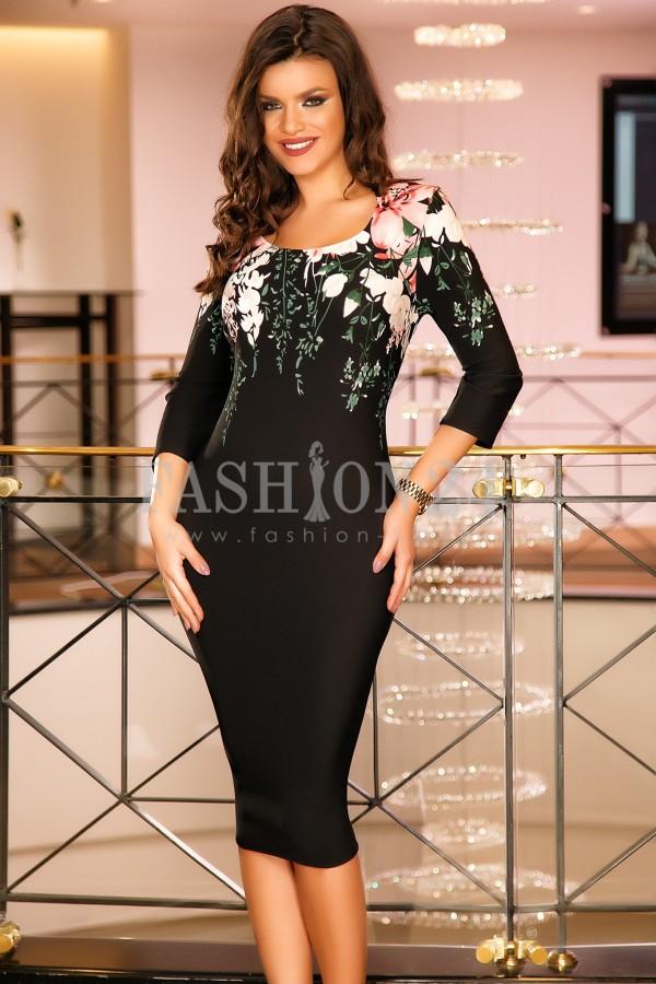 Rochie Ayra Black & White