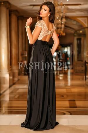 Rochie De Ocazie Gold Lace