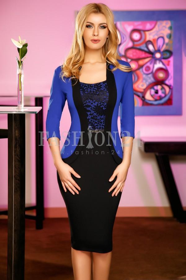Rochie Melisa Blue&Black