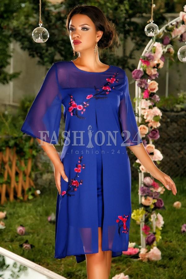 Rochie Blue Intense Flowers