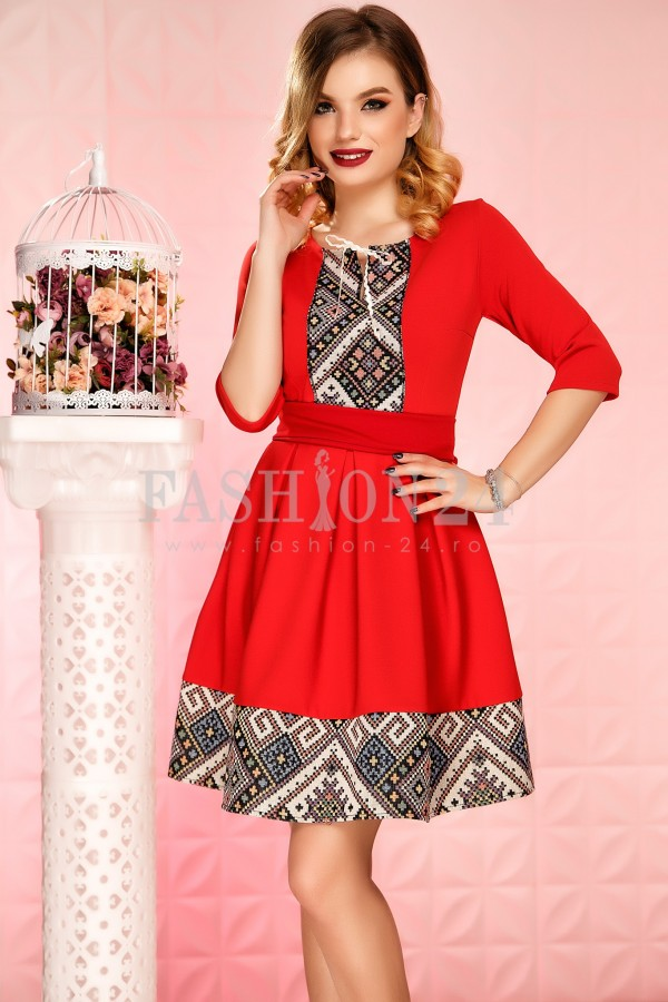 Rochie Aavya Red