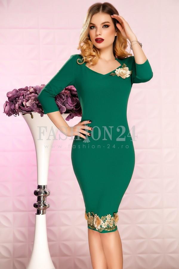 Rochie Diva Flower Green