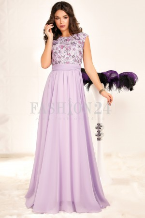 Rochie Lunga Purple Elements