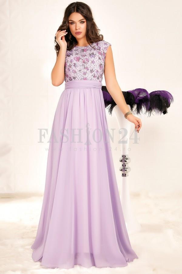 Rochie Lunga Purple Elements