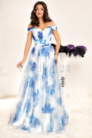 Rochie Lunga Amazing Evening Blue