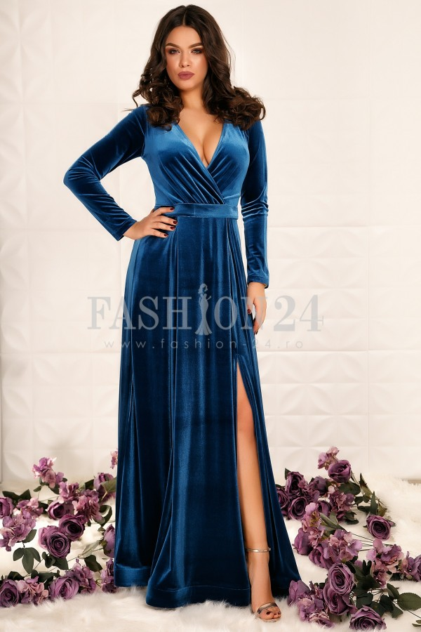 Rochie Lunga Ivey Blue