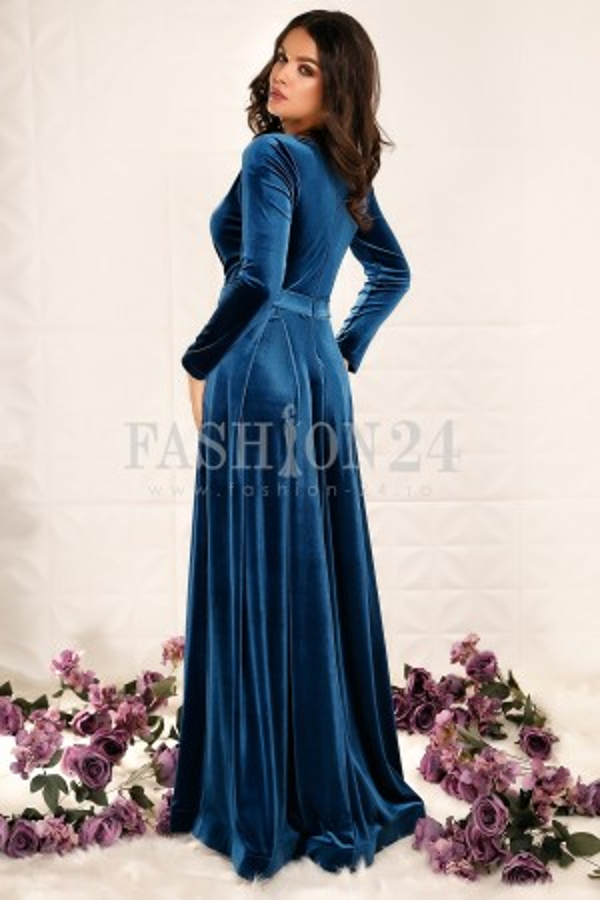 Rochie Lunga Ivey Blue