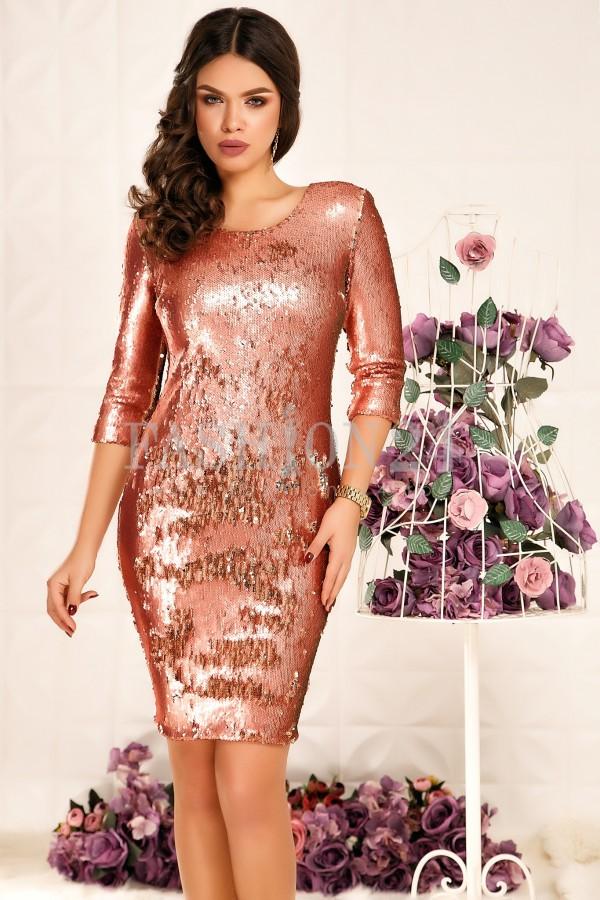 Rochie Emeri Coral&Gold