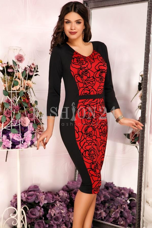 Rochie Eleganta Red Roses