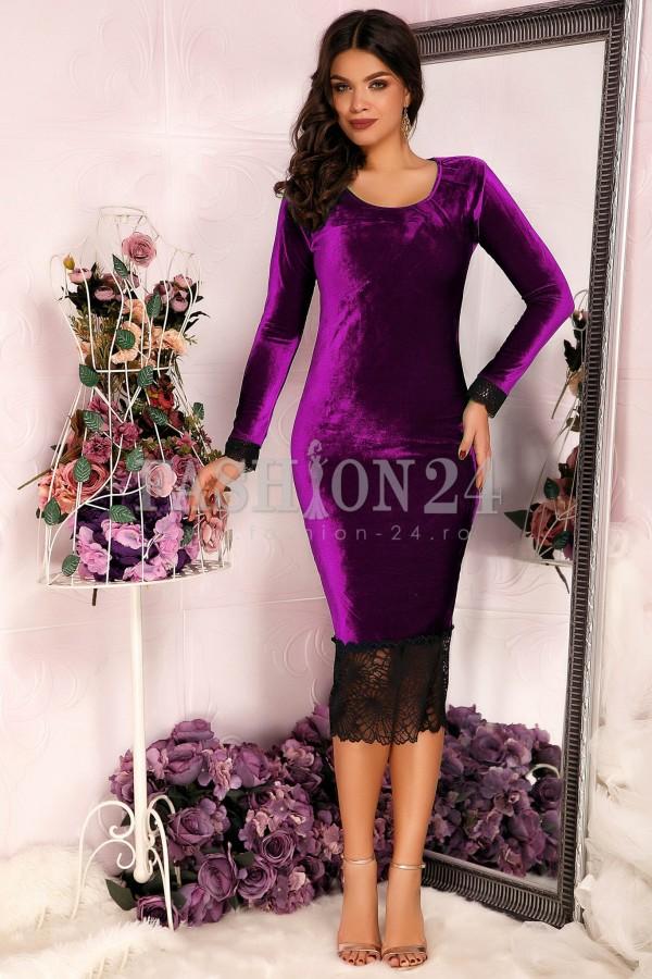 Rochie Purple Velvet
