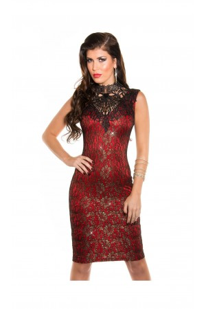 Rochie Long Night Red