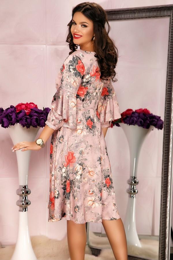 Rochie Kate de seara cu imprimeuri florale