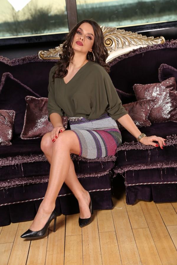 Rochie Sofia Kaki