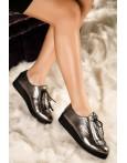 Pantofi Derby Din Piele Naturala Elani Gray