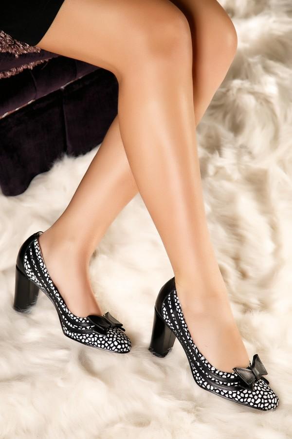 Pantofi de ocazie din piele naturala Anda negri