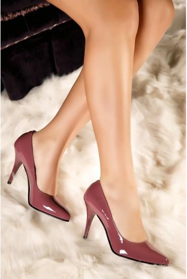 Pantofi stiletto mov Diana din piele naturala